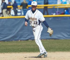 Junior Joe Crinella '15 fields a grounder at third