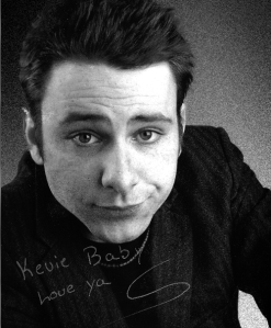 Charlie Day's first head shot that Kevin Salemme took before Day hit it big in Hollywood. Day scribbled a little message to Kevin Salemme on the photo as a gift.  Photo credit to Kevin Salemme.
